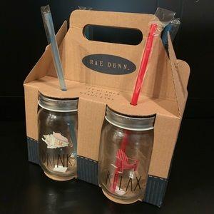 Rae Dunn set of 4 mason jar cups